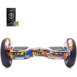 Scooter electric FREEWHEEL Smart Monster S2, graffiti galben