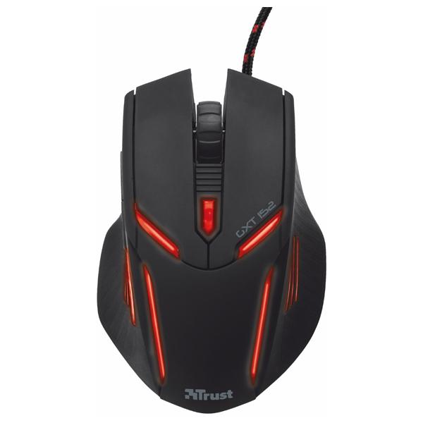 Mouse gaming TRUST GXT 152, 2400 dpi, negru