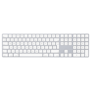 Tastatura Wireless APPLE Magic cu Numeric Keypad, Bluetooth, Layout RO, alb