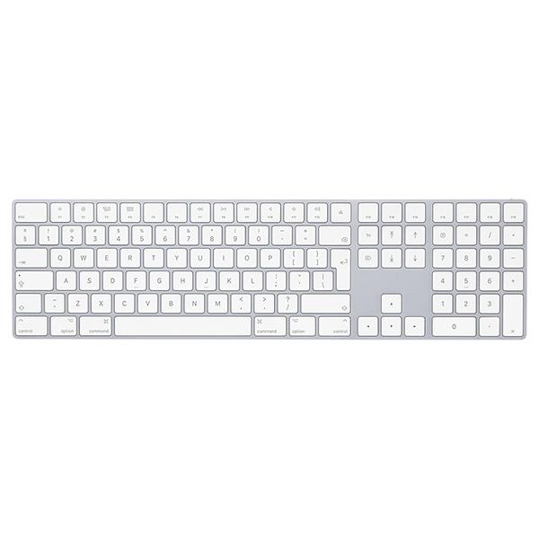 Tastatura Wireless APPLE Magic cu Numeric Keypad, Bluetooth, Layout RO, alb