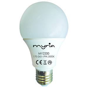 Bec LED MYRIA MY2200, E27, 9W 3000K, alb cald