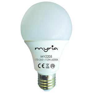 Bec LED MYRIA MY2205, E27, 12W, 6000K, alb rece
