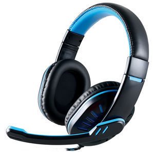Casti PC MYRIA MY8014, 3.5mm, negru-albastru