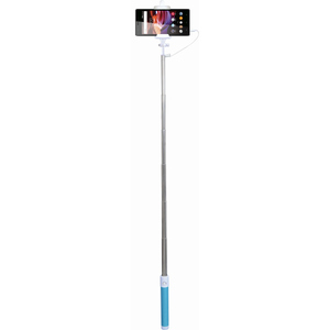 Selfie stick MYRIA MY9021, cu fir, blue