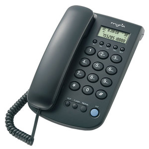 Telefon fix cu fir MYRIA Desk MY9001, negru
