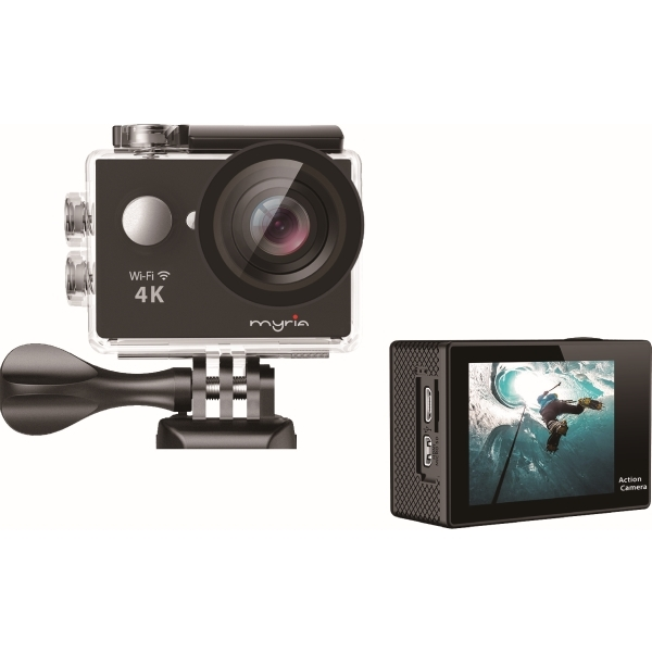 Camera video sport MYRIA MY7001, 4K, Wi-Fi, negru