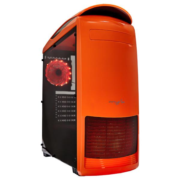 Carcasa Myria MY8729 portocalie, 2 x USB 3.0, 400W, mATX