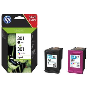 Pachet cu 2 cartuse de cerneala HP 301 N9J72AE, negru/tricolor