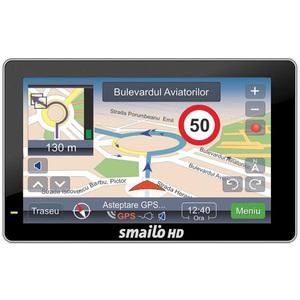 Sistem de navigatie GPS SMAILO HD5, Mediateck 3351 468 MHz, 5 inch, 64MB, Micro SD, USB, LifeTime update