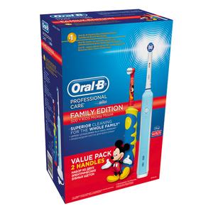 Pachet Family: Periuta de dinti electrica ORAL-B PRO 500 + Periuta de dinti electrica pentru copii Mickey Mouse