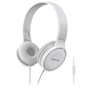 Casti PANASONIC RP-HF100ME-W, Cu Fir, On-Ear, Microfon, alb