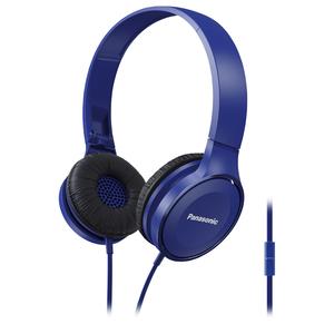 Casti PANASONIC RP-HF100ME-A, Cu Fir, On-Ear, Microfon, albastru