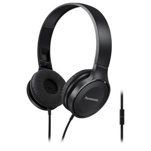 Casti PANASONIC RP-HF100ME-K, Cu Fir, On-Ear, Microfon, negru
