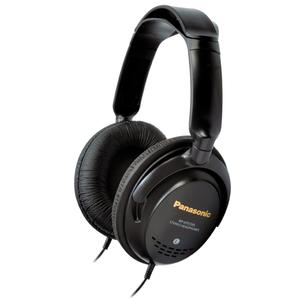 Casti PANASONIC RP-HTF295E-K, Cu Fir, On-Ear, negru