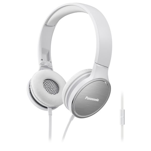 Casti PANASONIC RP-HF500ME-W, Cu Fir, On-Ear, Microfon, alb