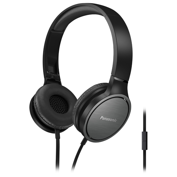 Casti PANASONIC RP-HF500ME-K, microfon, on ear, cu fir, negru