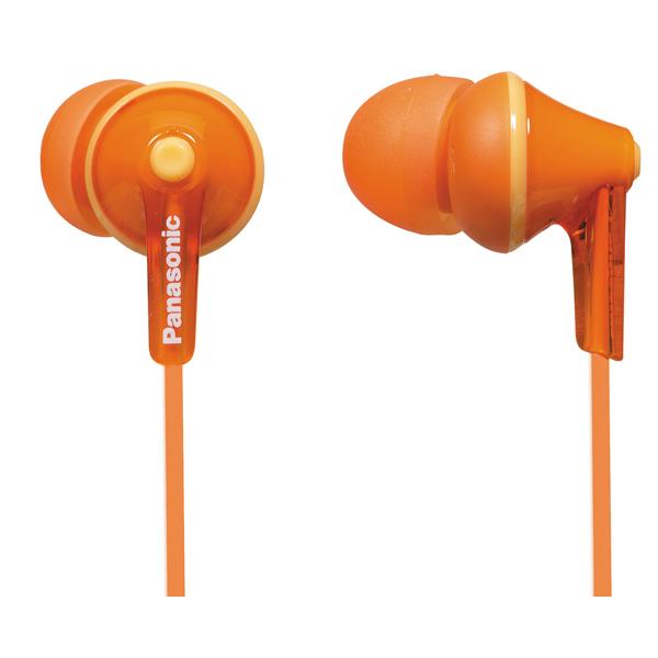 Casti PANASONIC RP-HJE125ED, Cu Fir, In-Ear, portocaliu