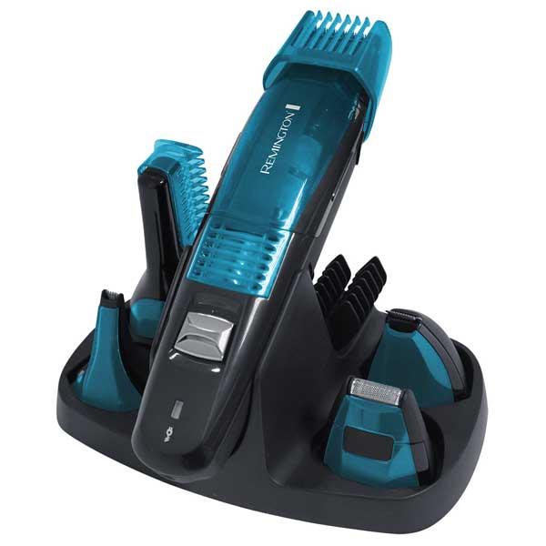 Set de ingrijire personala 5 in 1 REMINGTON Vacuum PG6070, acumulator, 60 min autonomie, albastru