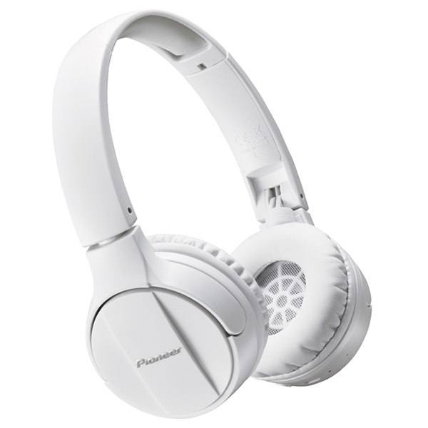 Casti PIONEER SE-MJ553BT-W, Bluetooth, On-Ear, Microfon, alb