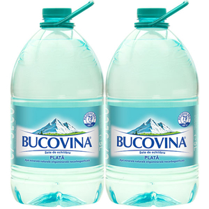 Apa minerala naturala plata BUCOVINA 5L, bax, 2 Sticle