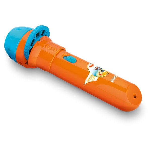 Lanterna LED cu proiector de imagini PHILIPS Planes 717885316, 1 LED, portocaliu