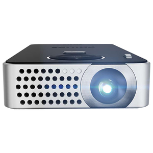 Videoproiector portabil PHILIPS PicoPix PPX4350 Wireless, 640 x 360 pixeli, negru-gri