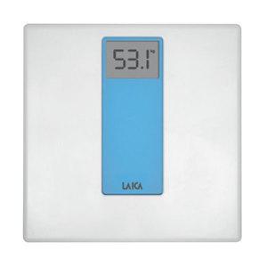 Cantar de persoane LAICA PS1045B, digital, sticla+plastic, 180kg, alb-albastru