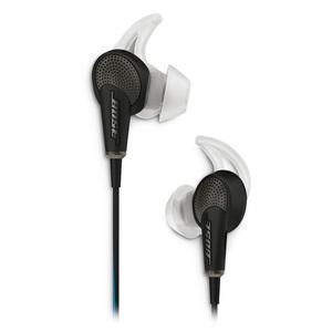 Casti in-ear cu microfon BOSE Quiet Comfort 20, compatibile Apple, negru