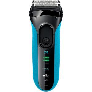 Aparat de ras BRAUN Series 3 3040, Wet & Dry, acumulator Ni-MH, 45 min autonomie, negru-albastru