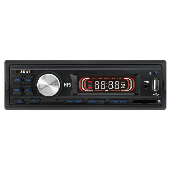 Radio MP3 auto AKAI STC-1011U, 4x25W, USB, Card Reader, iluminare albastru