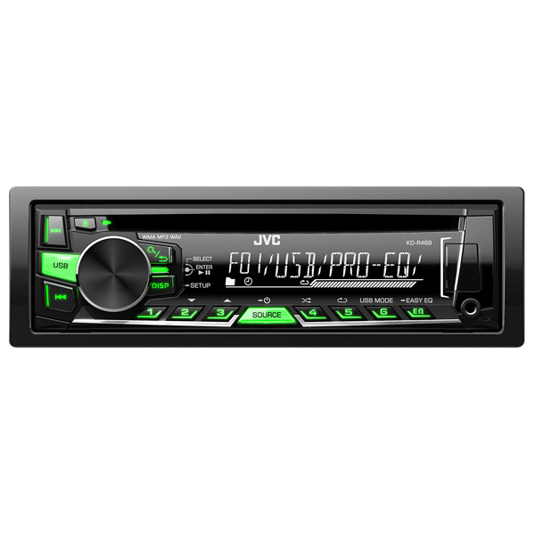 Radio CD auto JVC KD-R469EY, 4x50W, USB, iluminare rosu/verde