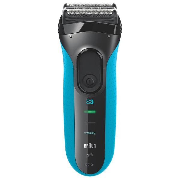 Aparat de ras BRAUN Series 3 3010s, Wet & Dry, acumulator Ni-MH, 45 min autonomie, negru-albastru