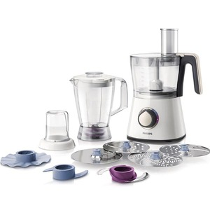 Robot de bucatarie PHILIPS Viva Collection HR7762/00, vas 1.5l, blender 1l, 750W, alb-crem