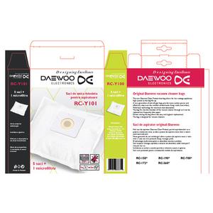 Kit DAEWOO RC-Y101: 5 saci aspirator + 1 microfiltru