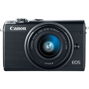 Camera foto digitala mirrorless CANON EOS M100 + Obiectiv 15-45mm, Full HD, 24.2Mp, Wi-Fi, Bluetooth, negru