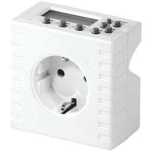 Priza programabila pentru interior HOME TD 01, IP20, alb