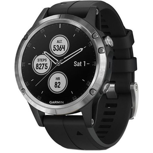 Smartwatch GARMIN Fenix 5 Plus, Android/iOS, silicon, Silver/Black