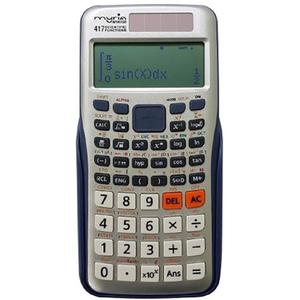 Calculator de birou MYRIA MY8310, 417 functii, albastru-argintiu