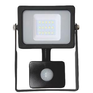 Proiector LED cu senzor de miscare WELL LEDFN-GLOW10PIR-WL, 10W, 800 lumeni, IP65, negru