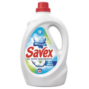 Detergent lichid SAVEX 2 in 1 White, 2.2l, 40 spalari