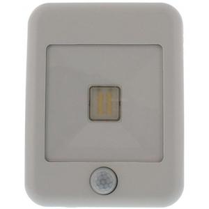 Proiector LED cu senzor de miscare WELL LEDFN-FLASHY10WEPIR-WL, 10W, 800 lumeni, IP65, alb