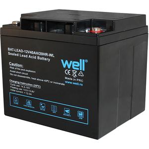 Acumulator plumb acid  WELL BAT-LEAD-12V40AH-WL, 12V, 40 Ah