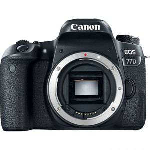 Camera foto DSLR CANON EOS 77D, 24.2MP, Body, Wi-Fi, negru