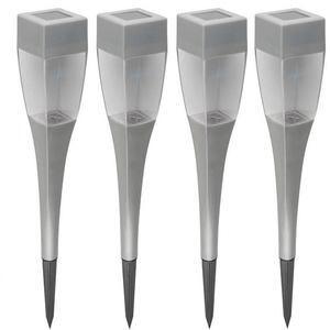 Set 4 lampi solare HOME MX 720/4, 1.2V, 200mAh, argintiu