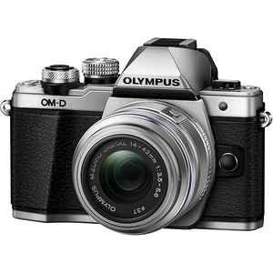 Aparat foto Mirrorless OLYMPUS E-M10 MARK II 1442, 16 MP, Wi-Fi, argintiu + Obiectiv 14-42mm