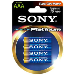 Baterii alcaline SONY AM4PT-B4D, AAA, 4 buc