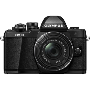 Aparat foto Mirrorless OLYMPUS E-M10 MARK II 1442, 16 MP, Wi-Fi, negru + Obiectiv 14-42mm