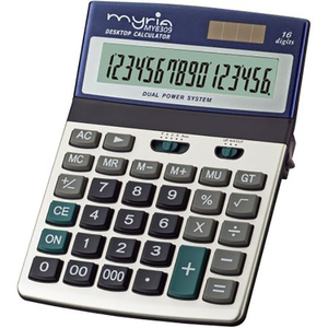 Calculator de birou MYRIA MY8309, 16 cifre, albastru-argintiu