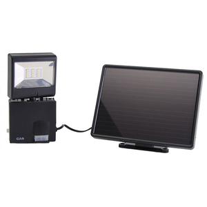Proiector LED cu panou solar si senzor de miscare GAO 6923H, 6W, 480 lumeni, negru