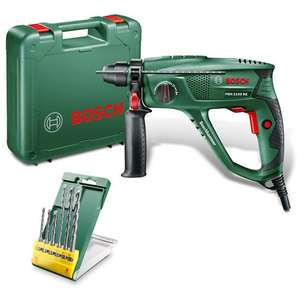 Ciocan rotopercutor BOSCH PBH 2100 RE+ Set burghie, SDS-Plus, 2300rpm, 550W